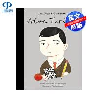 英文原版 小男孩,大梦想:艾伦・图灵Alan Turing 名人传记 Little People, Big Dreams