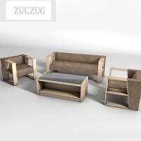 ZUCZUG办公沙发简约仿皮商务沙发接待会客区三人位办公室沙发茶几组合 +单人+拼玻璃加厚茶几 其它