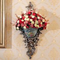 18新款欧式壁挂壁饰花瓶墙上创意树脂挂饰家装饰品家居墙壁复古花盆挂件