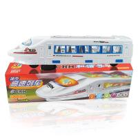 儿童玩具万向音乐闪光电动车塑胶仿真和谐号高铁火车模型