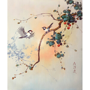 Y055詹荣达《花鸟》
