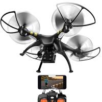4K大型婚庆无人机航拍高清四轴飞行器双GPS遥控航模飞机a275 黑色搭载4k相机-GPS碳刷电机 四电池+背包+易损