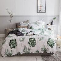 北欧网红纯棉床上三件套 简约全棉床单被套床品ins床笠床单四件套