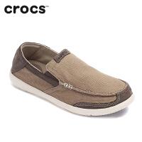 Crocs卡骆驰专柜正品男鞋乐福鞋追风沃尔卢舒适休闲帆布便鞋单鞋|203473
