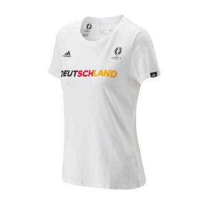 ADIDAS阿迪达斯 女子欧洲杯德国足球针织图案短袖T恤 AI5690 AI5692 现