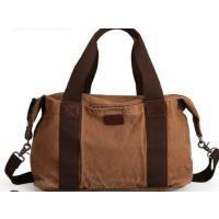 大气时尚行李包复古大容量手提包男士包休闲帆布旅行包单肩包