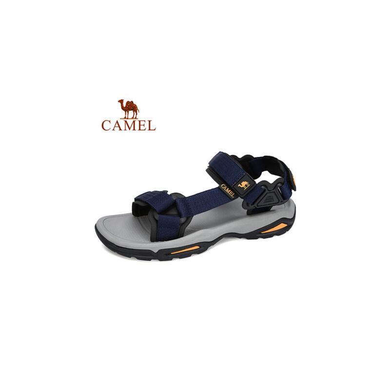 camel 骆驼夏季户外沙滩鞋女休闲运动凉鞋男防滑涉水平底凉鞋