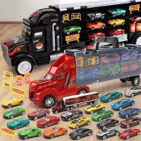 大卡车小汽车货柜车大货车合金车模型套装3-6周岁儿童玩具车男孩礼物