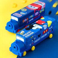 迪士尼文具盒男礼物笔袋凯蒂猫铅笔袋带笔削大容量火车头超级飞侠铅笔盒幼儿园多功能笔盒小学生女文具用品