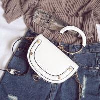 包包2017新款圆环手提包马鞍包明星同款包包单肩包女斜挎迷你小包