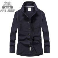 AFS JEEP男士长袖衬衫战地吉普秋季新款大码休闲上衣长袖衬衫2005