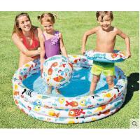 三环组合游泳沙池泳池玩具组合儿童婴儿游泳池小孩家庭充气水池海洋球池
