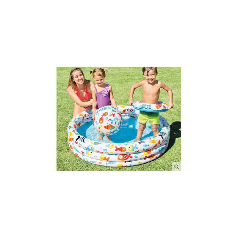 三环组合游泳沙池泳池玩具组合儿童婴儿游泳池小孩家庭充气水池海洋球池 品质保证,支持货到付款 ,售后无忧