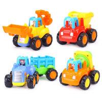 汇乐玩具儿童小汽车326惯性车工程车宝宝挖掘机玩具车男孩套装