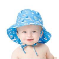 美国Bumkins儿童防晒帽太阳帽宝宝遮阳帽婴儿帽子春秋男女渔夫帽