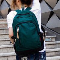 简约时尚帆布双肩包休闲旅游包初中学生小学生书包男女士背包